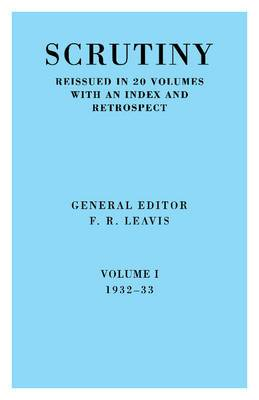 Scrutiny: A Quarterly Review 20 Volume Paperback Set 1932-53