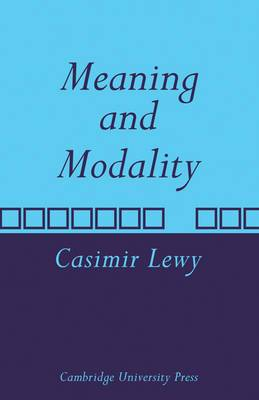 Meaning and Modality
