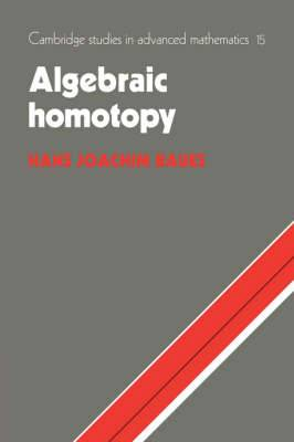 Cambridge Studies in Advanced Mathematics: Series Number 15: Algebraic Homotopy