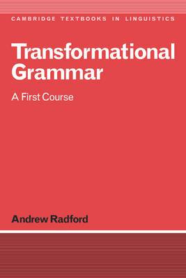 Transformational Grammar: A First Course