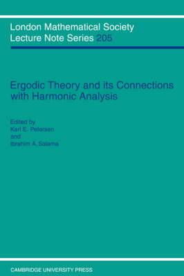 Ergodic Theory and its Connection with Harmonic Analysis: Proceedings of the 1993 Alexandria Conference