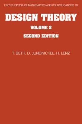 Design Theory: Thomas Beth, Dieter Jungnickel, Hanfried Lenz: Vol.2