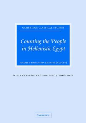Counting the People in Hellenistic Egypt 2 Volume Hardback Set