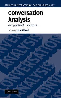 Conversation Analysis: Comparative Perspectives