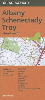Albany, Schenectady, Troy Street Map