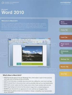 Microsoft Word 2010 Coursenotes