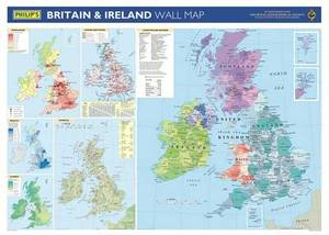 Philip's Britain and Ireland Wall Map
