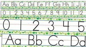 Standard Manuscript Alphabet and Numbers 0-30 Bulletin Board