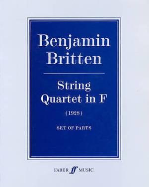 String Quartet in F: (Parts)