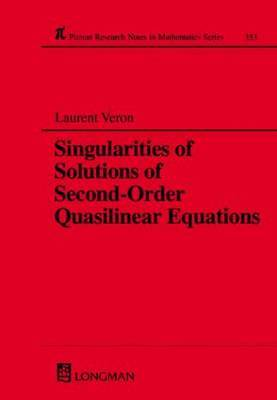 Singularities of Solutions of Second Order Quasilinear Equations