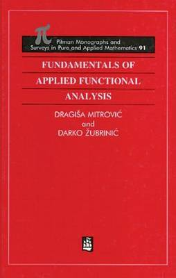 Fundamentals of Applied Functional Analysis: Distributions -Sobolev Spaces - Nonlinear Elliptic Equations