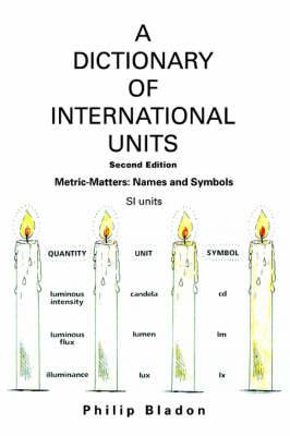 A Dictionary of International Units: Metric-Matters: Names and Symbols