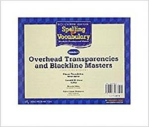 Houghton Mifflin Spelling and Vocabulary: Overhead Transparencies and Blackline Masters Grade 5