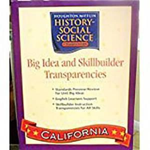 Houghton Mifflin Social Studies California: Big Idea & Skb Transp L3