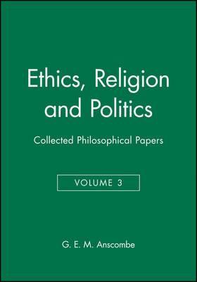 Ethics, Religion and Politics: v. 3