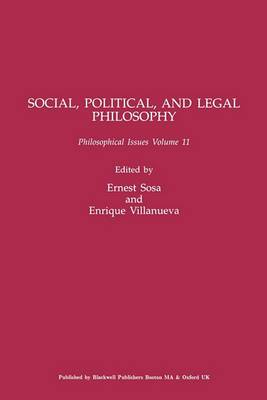 Philosophy of Law and Social Philosophy: A Supplement to  Nous