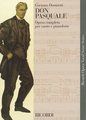 Don Pasquale Vocal Score Italian