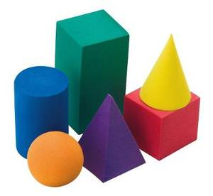 Three-in-One Integrated Learning Programme: Grade R: Kit component: 3D Sponge Shapes (25) (NCS)