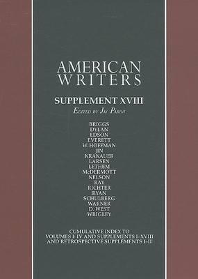 American Writers, Supplement XVIII: A Collection of Literary Biographies