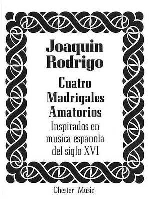 Rodrigo: Cuatro Madrigales Amatorios Medium Voice And Piano