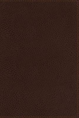 NKJV, End-of-Verse Reference Bible, Giant Print, Personal Size, Imitation Leather, Brown, Indexed, Red Letter Edition: Giant Print, Personal Size