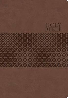 KJV, End-of-Verse Reference Bible, Personal Size, Giant Print, Imitation Leather, Brown, Indexed, Red Letter Edition