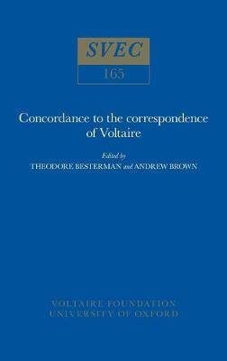 Concordance to the Correspondence of Voltaire: 1977