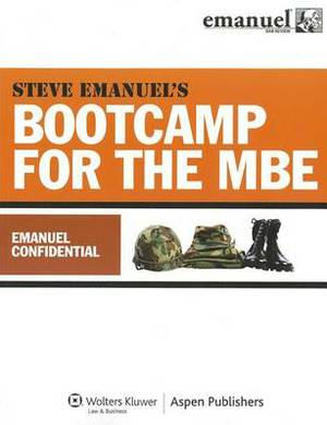 Bootcamp for the MBE: Emanuel Confidential