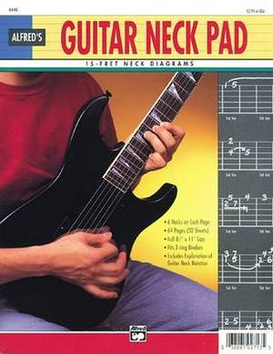 Guitar Neck Pad: 15-Fret Neck Diagrams, Loose Pages (3-Hole Punched for Ring Binders)