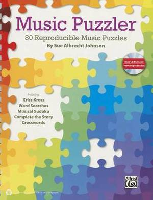 Music Puzzler: 80 Reproducible Music Puzzles, Comb Bound Book & Data CD