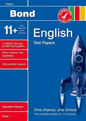 Bond 11+ Test Papers English Standard Pack 1