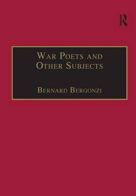 War Poets and Other Subjects