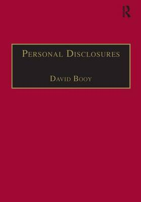 Personal Disclosures: An Anthology of Self-Writings from the Seventeenth Century