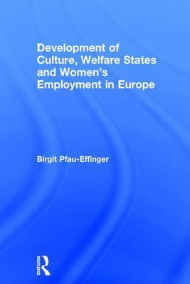 Development of Culture, Welfare States and Women's Employment in Europe: Theoretical Framework and Analysis of Development Paths