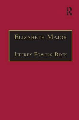 Elizabeth Major: Part 2, Volume6: Printed Writings 1641-1700