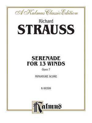 Serenade for 13 Winds, Op. 7: Miniature Score, Miniature Score