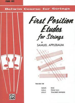 First Position Etudes for Strings: Piano Acc.