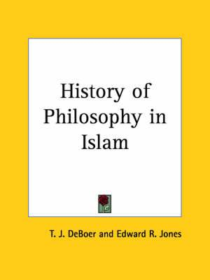 History of Philosophy in Islam (1903)