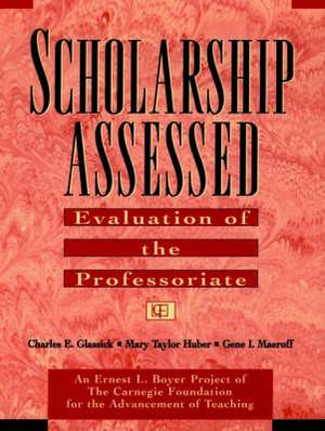 Scholarship Assessed: Evaluation of the Professori Professoriate (Paper Only): Evaluation of the Professoriate