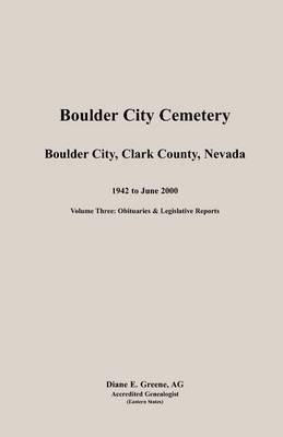 Boulder City, Cemetery, Volume 3