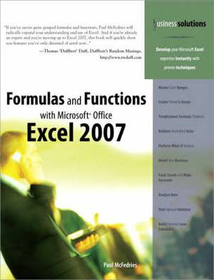 Formulas and Functions with Microsoft Office Excel 2007