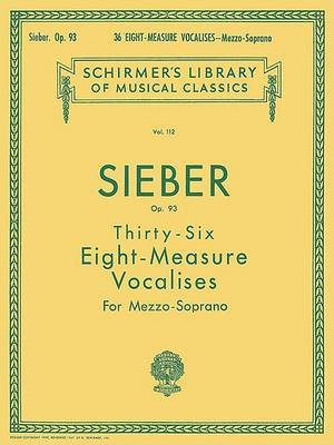 36 Eight-Measure Vocalises, Op. 93: Sheet Music