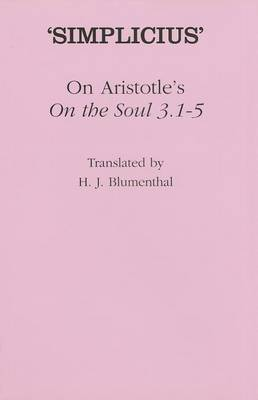 On Aristotle's  On the Soul 3.1-5