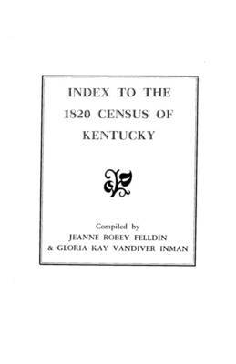 Index to the 1820 Census of Kentucky