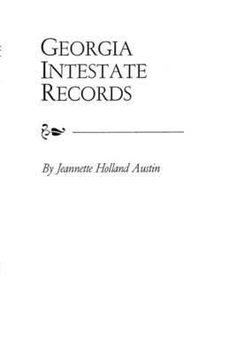 Georgia Intestate Records