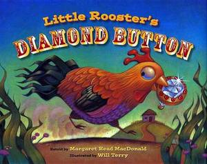 Little Roosters Diamond Button