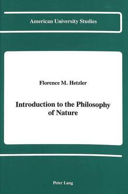 Introduction to the Philosophy of Nature