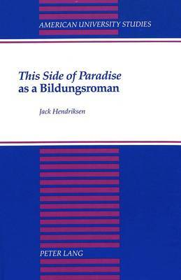 This Side of Paradise as a Bildungsroman