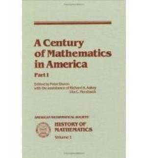 A Century of Mathematics in America: Part 1