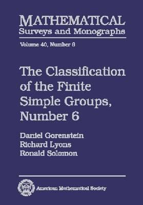 The The Classification of the Finite Simple Groups: No. 6, Pt. 4: The Classification of the Finite Simple Groups No. 6: Part IV, Special Odd Case The Special Odd Case
